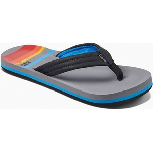 2019 Reef Kids Ahi Sandals / Flip Flops Grey Pinstripes RF0A3VBL